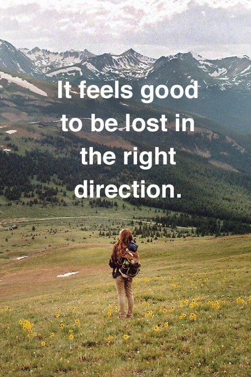 It Feels Good To Be Lost In De The Right Direction